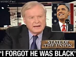 Chris Mathews forgot Obama was Black