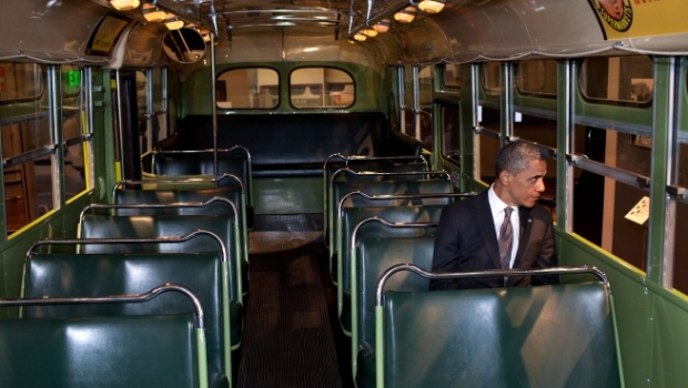 It Hurts to See Obama Sitting in Rosa Parks' Seat.