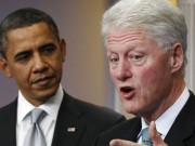 bill clinton and obama