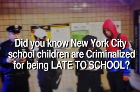 Watch: Why Are NYPD Cops Setting Up Criminal Checkpoints For Kids Who Are Late to School?