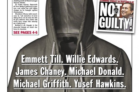 Here Is The Powerful Daily News Cover on the George Zimmerman Verdict