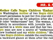 This is an actual story from the 1955 issue of Jet Magazine.