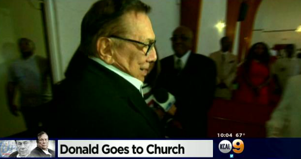Donald Sterling Attends Black Church and Receives Round of Applause
