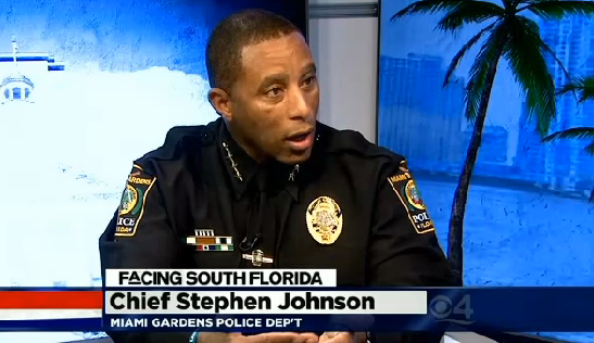 Black police chief takes over force dubbed stop and frisk on steriods breaking brown for Miami gardens police department