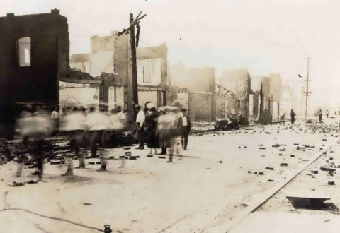 Black Wall Street after the riot. Photo Credit: Al Jazeera