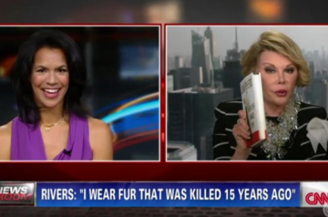 """Joan Rivers Storms Off CNN Set After Telling Anchor Fredricka Whitfield to """"Shut Up"""""""