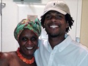 John Crawford with his mother. Photo Credit: CBS