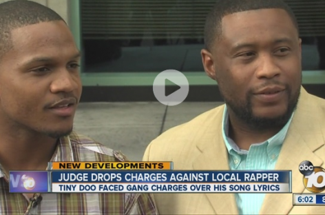 "Rapper ""Tiny Doo"" Gets Charges Dropped After Being Prosecuted Over Violent Lyrics"