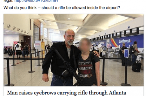White Man Wandered Around Atlanta Airport With AR-15 and Didn't Get Shot