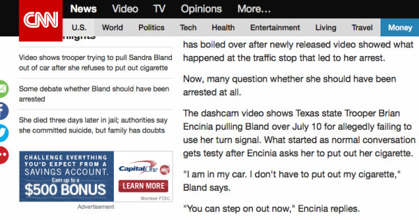 Why Are Both CNN and NBC Lying on Sandra Bland?