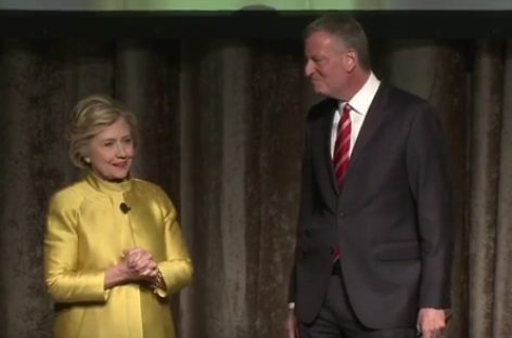 """Watch Hillary Clinton and New York's Mayor Joke About Being on """"CP Time"""" [Video]"""