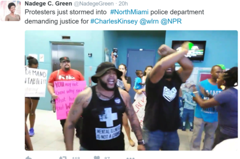 Protesters Storm North Miami Police Department Over Shooting of Therapist Charles Kinsey