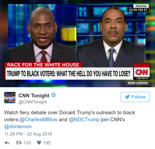 Charles Blow's Meltdown on CNN Reflects the Black Community's Political Immaturity