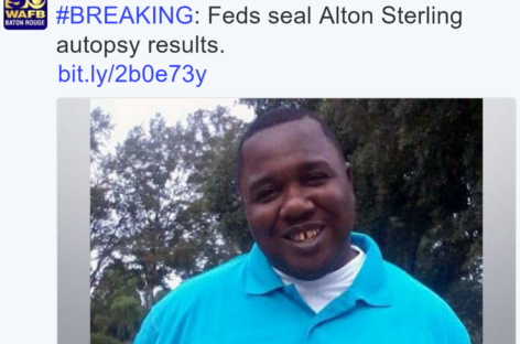 Feds Seal Alton Sterling Autopsy Report