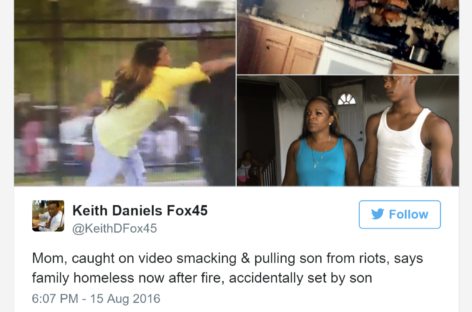 Baltimore Mom Made Famous for Slapping Son During Riots Is Now Homeless