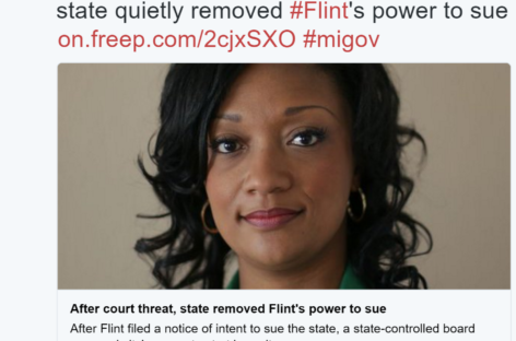 Flint's Right to Sue Over Lead Poisoning Revoked by State of Michigan